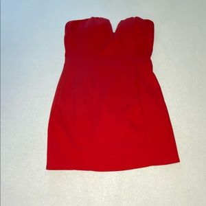 NWT Forever 21 brand red strapless dress